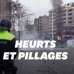 Aux Pays-Bas, des manifestations contre les restrictions sanitaires virent à