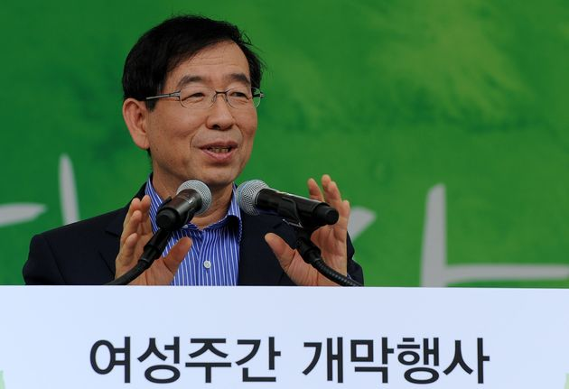 박원순 시장이 지난 2012년 서울 광진구 어린이대공원 열린무대에서 열린 2012 여성주간 개막행사에 참석해 개막사를 하고