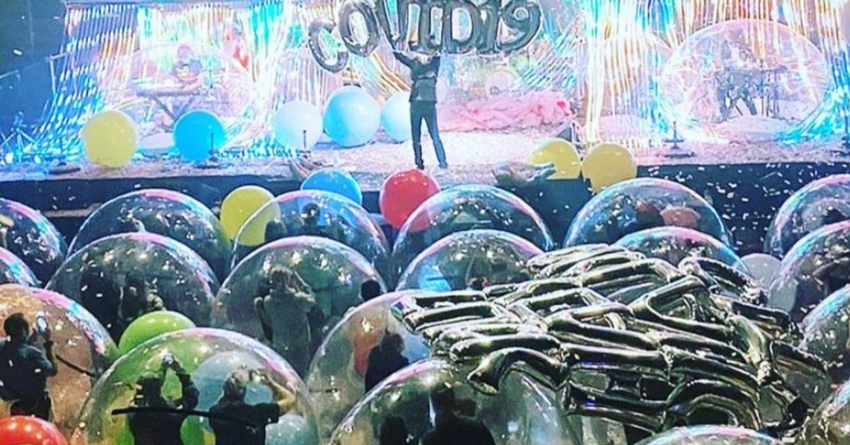 The Flaming Lips' Covid-Safe 'Space Bubble' Concert Looks Fun But Seriously Dystopian