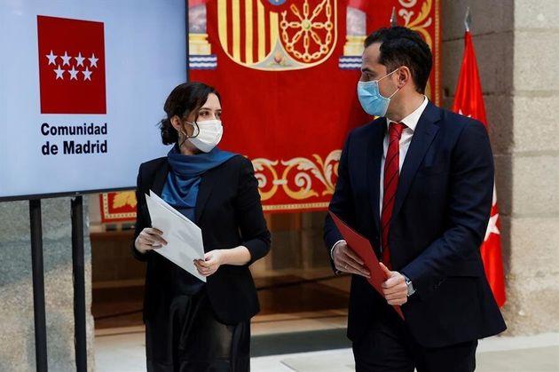 Isabel Díaz Ayuso e Ignacio Aguado presentan el acuerdo