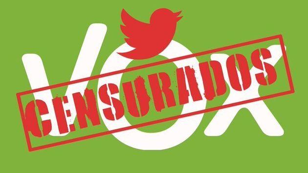 Montaje de Vox cuando Twitter suspendió su cuenta en enero de