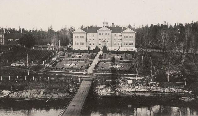 The Kuper Island Indian Residential School is seen on Penelakut Island, B.C. in anarchive photo...