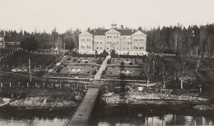 The Kuper Island Indian Residential School is seen on Penelakut Island, B.C. in anarchive photo dated June 19, 1941.