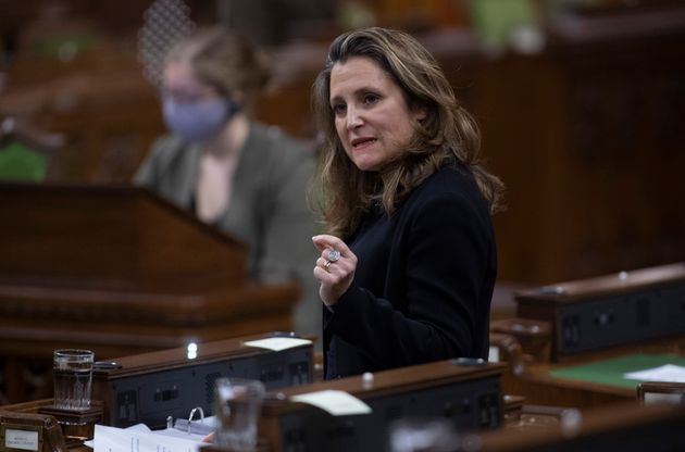 Deputy Prime Minister and Minister of Finance Chrystia Freeland responds to a question during Question...