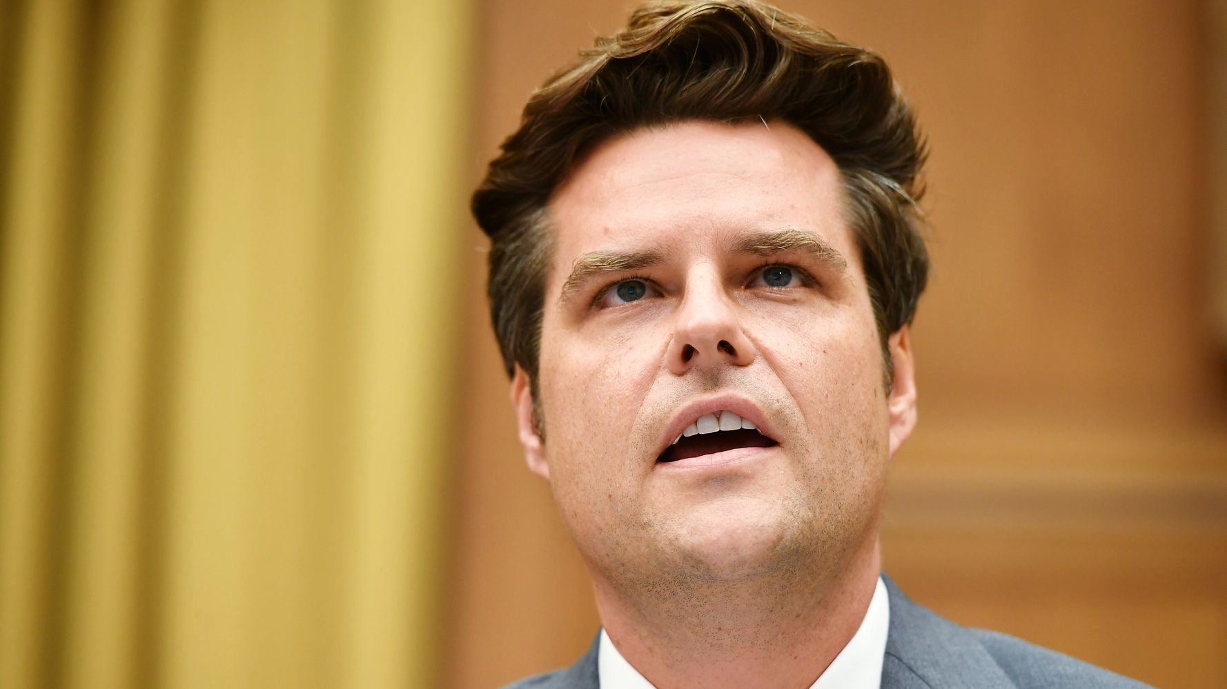 Liz Cheney's Office Slams Matt Gaetz — For Wearing Makeup, Of All Things