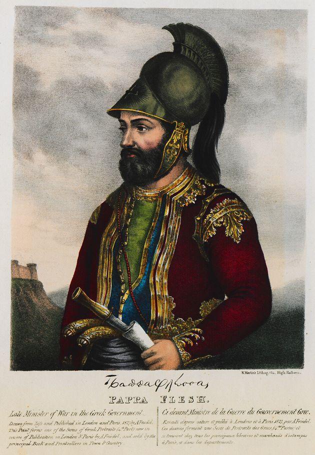 Ο Γρηγόριος Δικαίος Παπαφλέσσας - Προσωπογραφία του 1830, Άνταμ