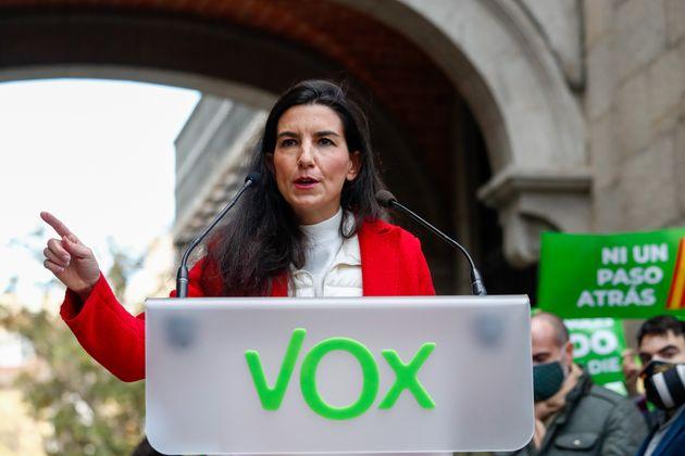 Rocío Monasterio, en un acto en defensa de la Constitución, el pasado diciembre, en