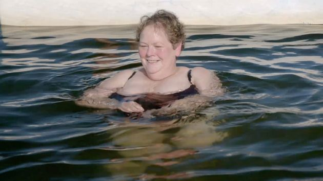 Anne Hegerty takes a swim with dolphins in the Chasers' new
