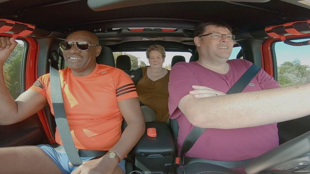 The trio take a drive across America in their new travel