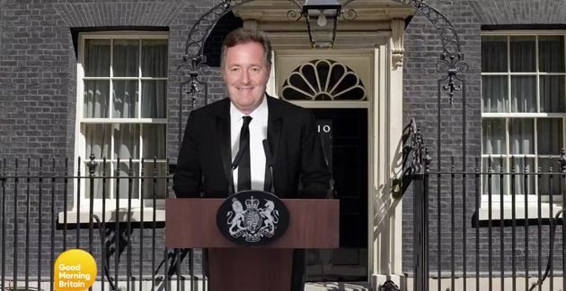 GMB bosses mocked up what it would look like if Piers Morgan was prime