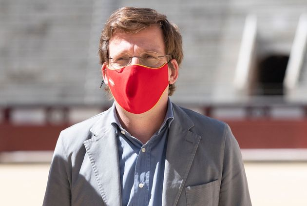 El alcalde de Madrid, José Luis Martínez-Almeida, en un acto de protección de la...