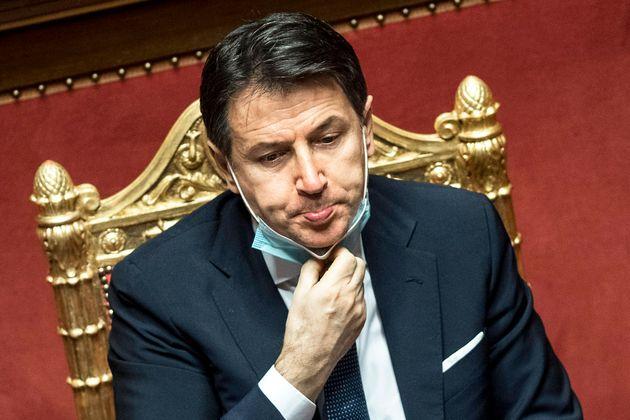 Giuseppe Conte en el Senado el pasado 19 de