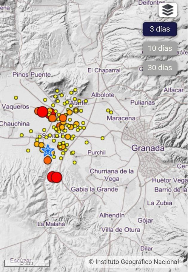 Zonas afectadas por los terremotos en