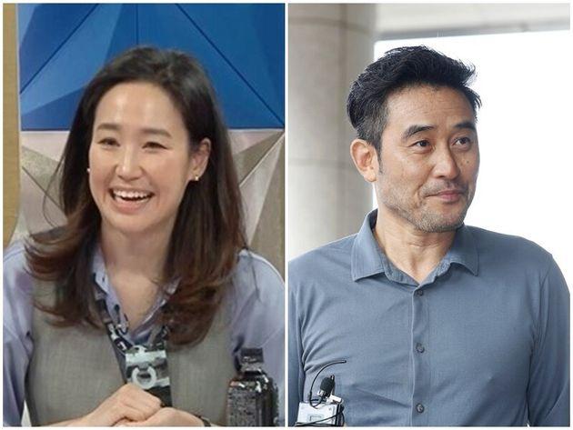 방송인 강주은과 그의 남편 배우