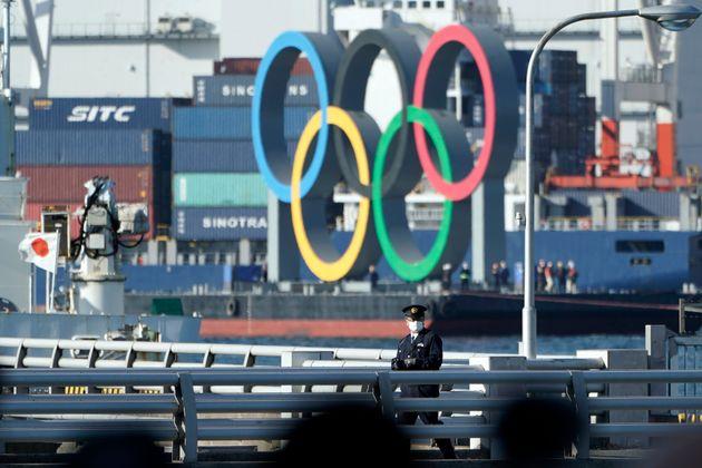 お台場にあるオリンピックのモニュメント