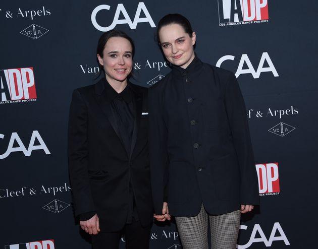 Elliot Page et sa femme Emma Portner lors du Los Angeles Dance Project le 7 octobre