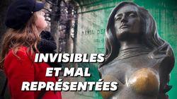 À Paris, les statues de femmes sont rares, mais en plus elles sont
