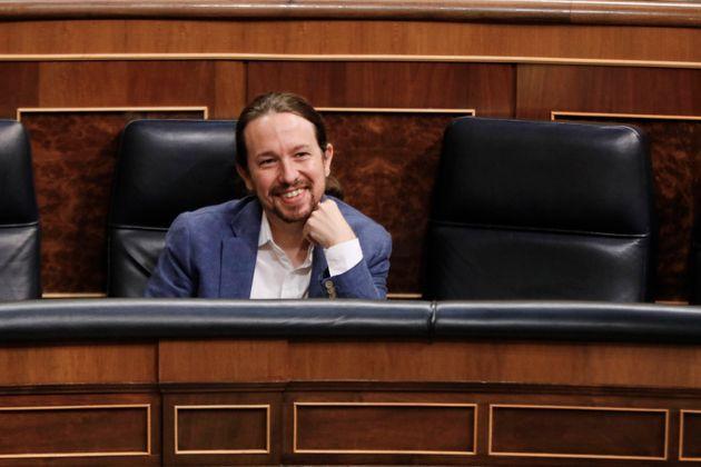Pablo Iglesias, en el Congreso de los
