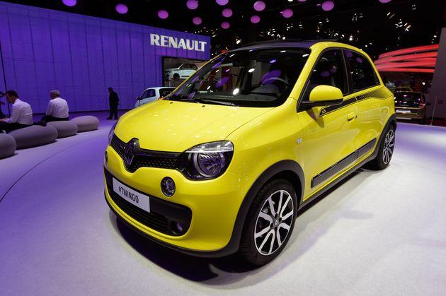Une Renault Twingo présentée au Mondial de l'Automobile à Paris, le 2 octobre 2014...