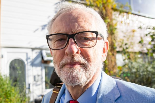 Former Labour leader Jeremy Corbyn leaves his house in north