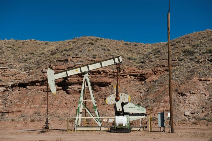 An oil pumpjack is seen near Aneth, Utah. More than half of the 26 million federal acres leased to the oil and gas industry a