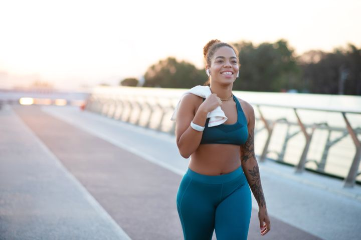 Getting out of sweaty clothes as soon as possible after a workout can help reduce any negative side effects on your skin.