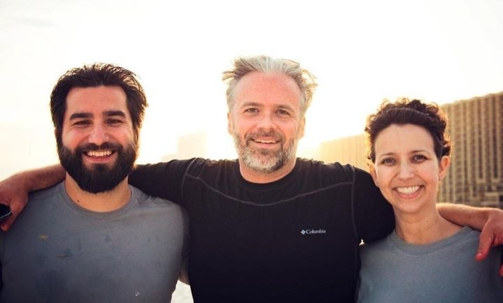 """From left, Dane Faucheux, Matt Teague and Nicole Teague, the real-life inspirations behind """"Our Friend."""""""