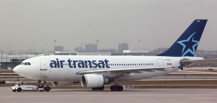 An Air Tranat plane at Toronto's Pearson International Airport, Dec. 11, 2012.