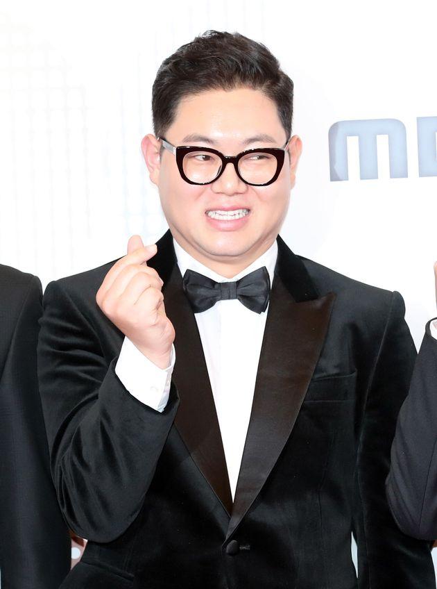 '2018 MBC 방송연예대상' 레드카펫 행사에 참석했던 감스트.