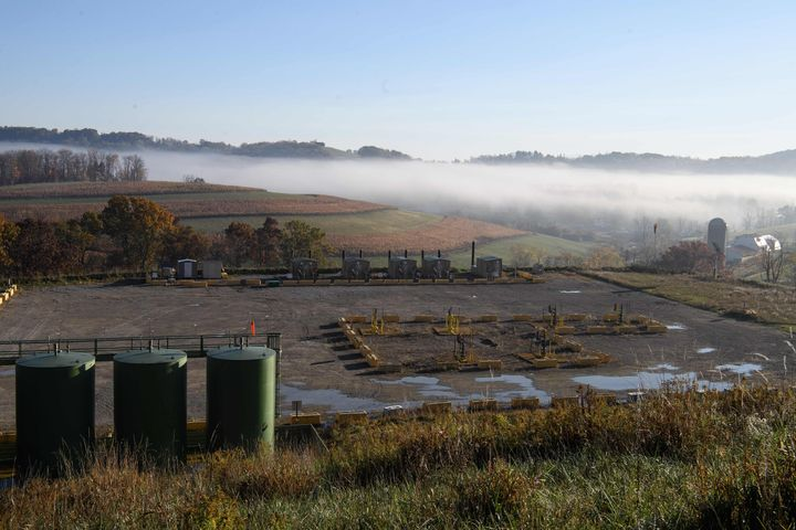 View of the Lusk fracking facility in Scenery Hill, Pennsylvania.