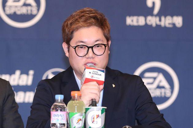 2018 K리그 홍보대사로 발탁됐던 BJ 감스트.