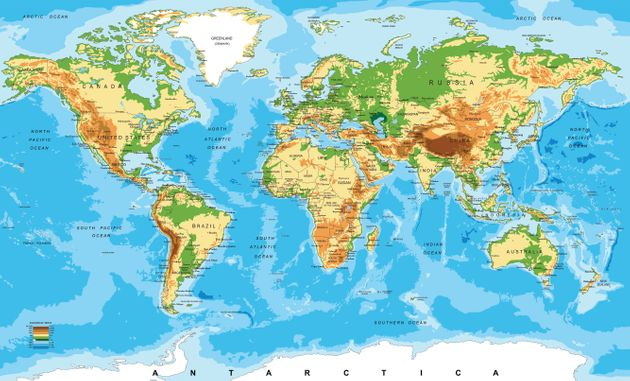 Highly detailed physical map of the