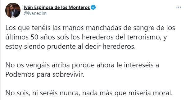 El tuit de Espinosa de los