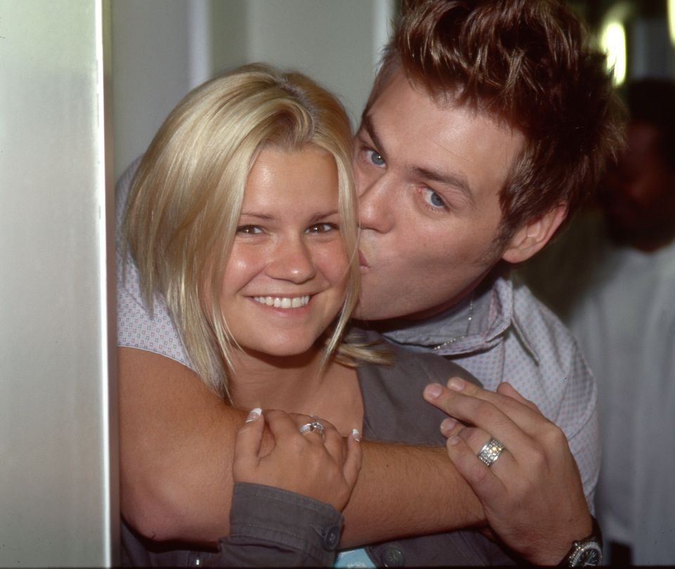 Kerry Katona with Westlife star Brian McFadden pictured in 2002, the same year they married. They were...
