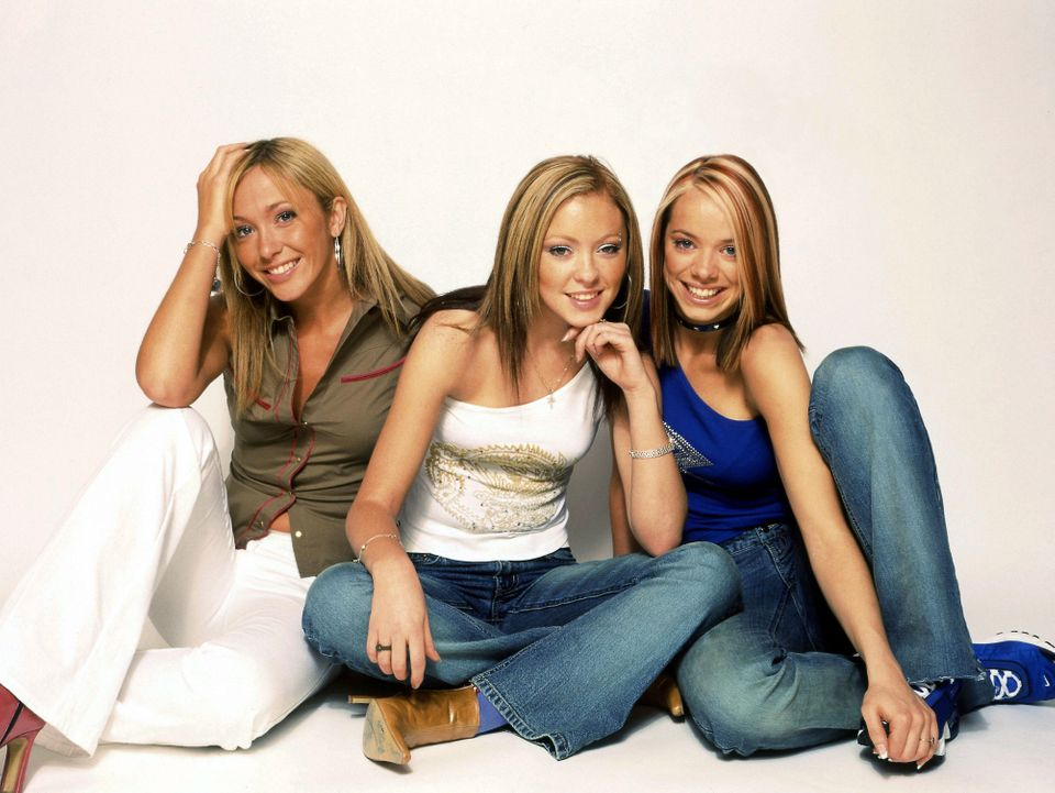 Jenny Frost (left) pictured with her Atomic Kitten bandmates in