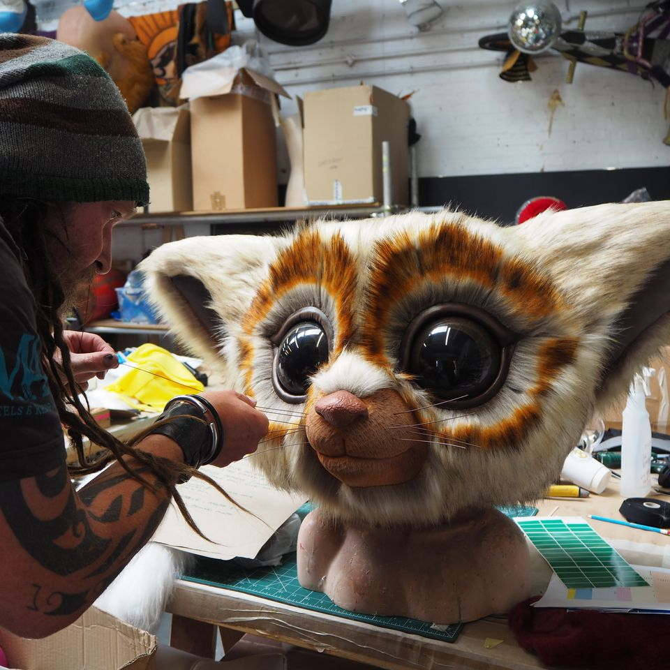 Bush Baby's head had to go through some major adjustments behind the scenes, as John Thomson was