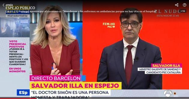 Susanna Griso entrevista a Salvador