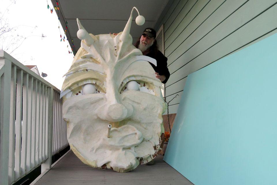 Τα σπίτια της Νέας Ορλεάνης «μεταμφιέστηκαν» για το καρναβάλι Μάρντι