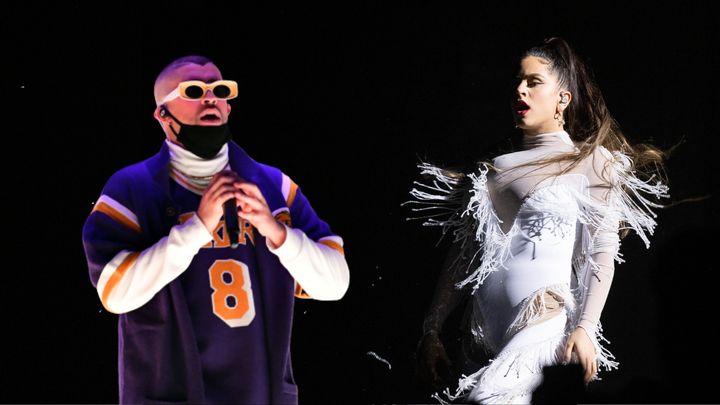 Bad Bunny y Rosalía, dos de los artistas de habla hispana más escuchados.