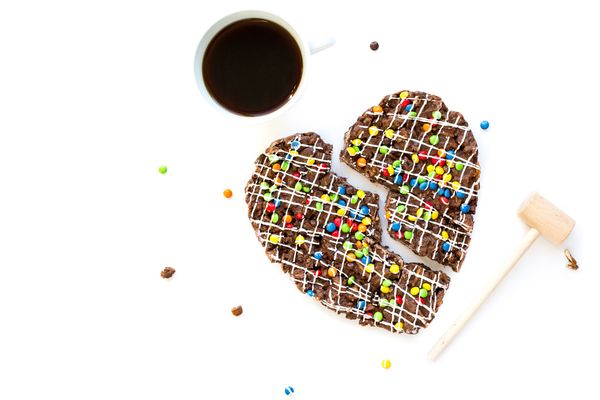 "Pizza is good, and chocolate is good, but broken hearts are bad. This <a href=""https://www.sugar-plum.com/products/chocolate-"
