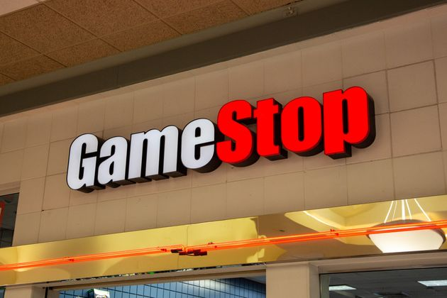 A sign outside of GameStop location in the United