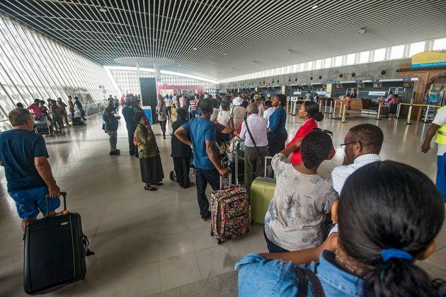 L'aéroport de Guadeloupe le 6 septembre