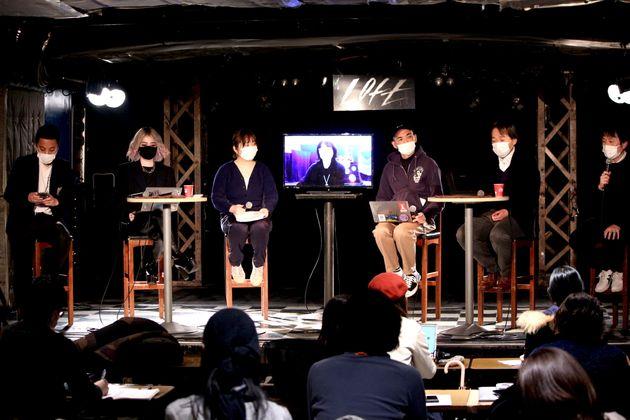 <左から>スガナミユウさん(ライブハウス「LIVE HAUS」店長)、Naz Chrisさん(一般社団法人 JDDA