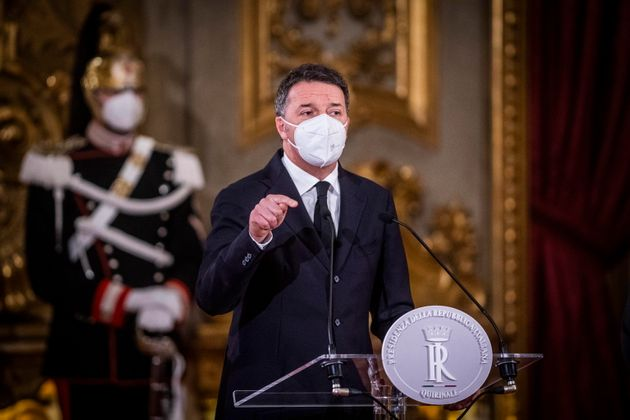 epa08971736 Matteo Renzi, leader of Italian party