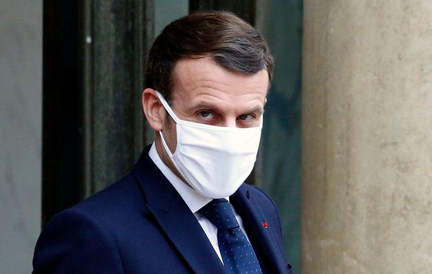 Emmanuel Macron photographié à l'Élysée jeudi 28 janvier