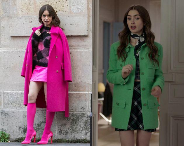Dos conjuntos de <em>Emily in Paris</em>