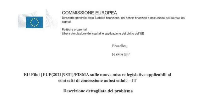 Lettera Ue concessioni