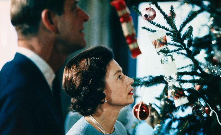 The film includes footage of Christmas at Windsor Castle, with Queen Elizabeth II and Prince Philip putting finishing touches