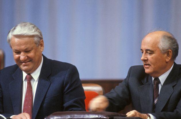 19/08/1991 Mosca, Congresso straordinario dei deputati del popolo dell' URSS, nella foto Boris Eltsin...