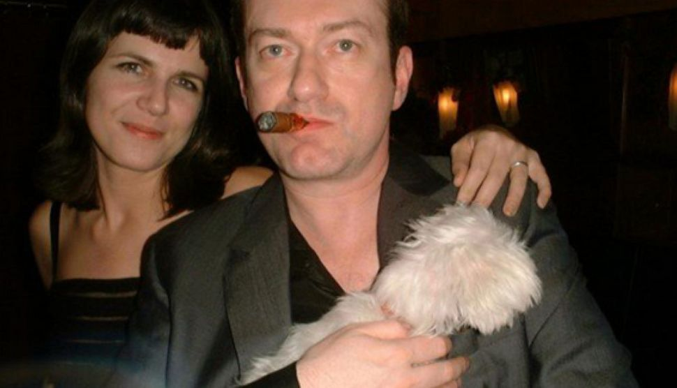 Catherine Mayer with her husband Andy Gill, who she believes was one of the early victims of coronavirus